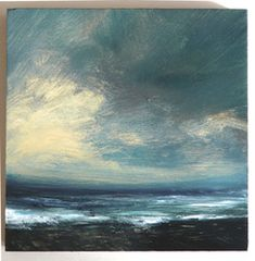 September Gale, Mixed media on wooden panel, 16 x 16cm Ruth Brownlee