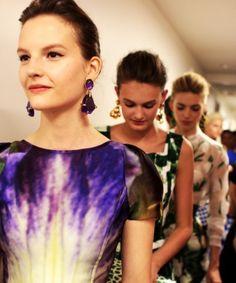 Purple tie dye dress and jewel earrings!  Olam Wedding Canopies - Inspiration