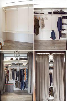 Practical storage for clothes … – home diy organizations Diy Wardrobe, Wardrobe Rack, Wardrobe Clothing, Bedroom Storage, Diy Bedroom Decor, Home Decor, Diy Kallax, My New Room, Diy Organization