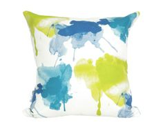 Watercolour Pillow Cover in Peacock Additional by ModPieces, $50.00