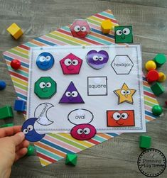 Back to School Themes - Planning Playtime Preschool Shapes Activities - Back to School Theme Preschool Learning Activities, Preschool Activities, Preschool Printables, Preschool Alphabet, Alphabet Activities, Preschool Binder, Learning Games For Preschoolers, Montessori Preschool, Preschool Centers
