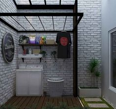 Cool Charming Small Laundry Room Design Ideas For You. room outdoor Charming Small Laundry Room Design Ideas For You Laundry Room Lighting, Laundry Room Shelves, Laundry In Bathroom, Small Bathroom, Kitchen Small, Outside Laundry Room, Outdoor Laundry Rooms, Small Space Design, Small Spaces