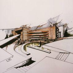 """""""تبریک برا برد والیبال.مرسسی تیم... اسکیس.حجم سازی+راندو #arqsketch #arquitetura #arquitetapage #arquisemteta #papodearquiteto #iarchitectures #design…"""""""
