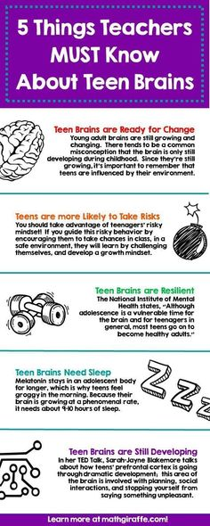 The Teenage Brain – What Middle & High School Teachers Need to Know The Teenage Brain – Was Mittel- und Oberstufenlehrer wissen müssen High School Counseling, School Social Work, High School Classroom, School Counselor, High School Students, High School Principal, Classroom Ideas, High School Teachers, Primary School
