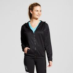 Women's Tech Fleece Full Zip Hoodie - Black L - C9 Champion