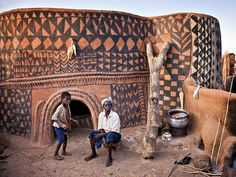 Painted village of Burkina Faso, a landlocked country in West Africa, by Louis Montrose - A former professor at the University of California, Montrose has become the overall winner of the 2011 international Travel Photographer of the Year (TPOTY) awards. Ghana, Mud Hut, African House, Afrique Art, Vernacular Architecture, African Tribes, West Africa, Africa Travel, Travel Photographer