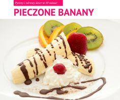 Pieczone banany - pyszny deser w 10 minut!