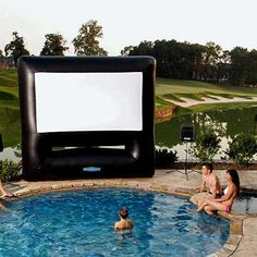 inflatable outdoor movie screen....will have this summer