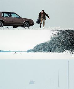 Just a few examples of Roger Deakins' excellent cinematography in Fargo (1996).