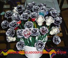 El mundo reciclado de Paqui: Centro de mesa con flores nespresso
