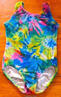 Snowflake Leotard Tie Dye Velour Adult Medium #SnowflakeDesigns