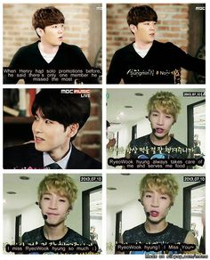 Henry misses Ryeowook... because of food :))