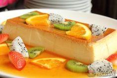 Receita de Pudim de leite condensado com calda de frutas em receitas de pudins, veja essa e outras receitas aqui!