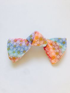 Bow barrette, Japanese Bow, Japanese fabric Bow, Japanese barrette, Sakura hair accessry,  ribbon barrette, FREE SHIPPING on Etsy, ¥1,010.64