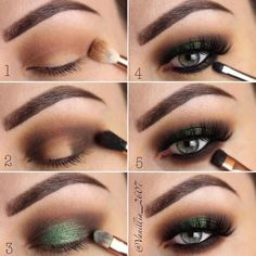 How To Apply Eye Shadow For Smokey Eyes Make-up Do you've grey eyes? Discover all of the make up and picture associated information right here. Discover ways to select eyeshadows for mild, darkish grey eyes. Makeup Tutorial Step By Step, Makeup Tutorial For Beginners, Green Eyeshadow, Makeup For Green Eyes, Summer Eyeshadow, Creamy Eyeshadow, Natural Eyeshadow, Mineral Eyeshadow, Glitter Eyeshadow