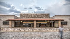 Village House Design, House Front Design, Building A Stone Wall, Built In Braai, Hacienda Homes, Casas Containers, Stone Houses, Classic House, Farmhouse Style