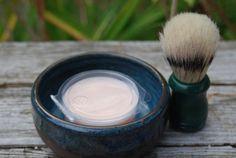 blue shaving bowl makes a nice gift ready to by brookhousepottery, $15.00