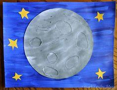 Eric Carle Εμπνευσμένο Σελήνη Τέχνης (αγγίξουν και να αισθανθούν υφή Σελήνη) | I Heart Crafty Πράγματα