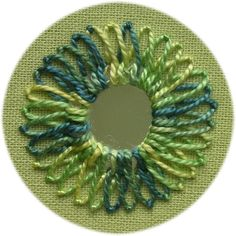 Fly stitch shisha variation