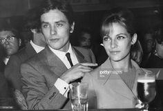 Alain Delon and Nathalie Delon Old Flame, Classy Aesthetic, Famous Couples, Forever, Cute Gay, Best Tv, Back To Black, Celebrity Pictures, Classic Hollywood
