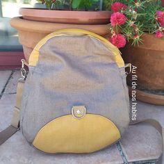 Elodie Mln sur Instagram: Pour le départ en vacances de ma maman je lui ai cousu un sac très pratique! Le modèle #saclimbo de @patrons_sacotin : il peut être soit…