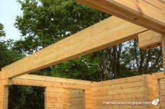 Maison bois : poutre lamellée collée du garage