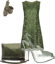 """green - wedding outfit"" by rachel-tank-lancaster on Polyvore"