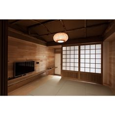 Modern Japanese House ❤ liked on Polyvore featuring room