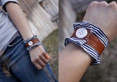 leather & fabric bracelets