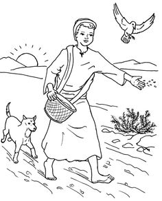 Download Parable Of The Lost Sheep Coloring Page Ziho Coloring