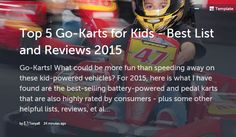 Top 5 Go-Karts for Kids - Best List and Reviews 2015 @ Storify
