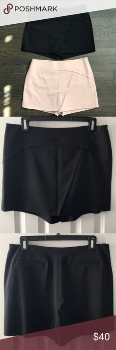 BCBG Maxazria skorts BUNDLE STEAL! 2 for the price of 1 😍  New with tags: black and blush colored skorts. Size Medium. BCBGMaxAzria Shorts Skorts