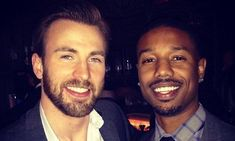 Chris Evans Passes the 'Fantastic Four' Torch to Michael B.: Photo Chris Evans gets the honor of ringing the New York Stock Exchange opening bell to celebrate his movie Captain America: The Winter Soldier at the New York Stock Exchange… Michael B Jordan, Jordan 3, Steve Rogers, Skull Island, The Avengers, Chris Evans Captain America, Capt America, Nick Fury, Bruce Banner