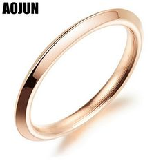 AOJUN Fashion Jewelry Solid Polished Stainless Steel Love Arc Rings For Woman Irregular Wedding Party Jewellery Unique Gift  #Affiliate