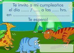 Invitación para cumpleaños. Dinosaurios