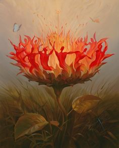 Vladimir Kush Fiery Dance oil painting for sale; Select your favorite Vladimir Kush Fiery Dance painting on canvas or frame at discount price. Vladimir Kush, Salvador Dali Gemälde, Salvador Dali Paintings, Fantasy Kunst, Fantasy Art, Jean Arp, Kunst Online, Surrealism Painting, Artist Painting