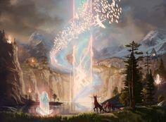 Fantasy Castle, High Fantasy, Fantasy World, Fantasy Paintings, Fantasy Artwork, Fantasy Landscape, Landscape Art, Deserts Of The World, Mystical World