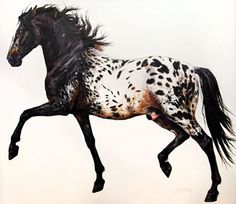 Beautiful Painted Portrait - Click thru to see the real life horse