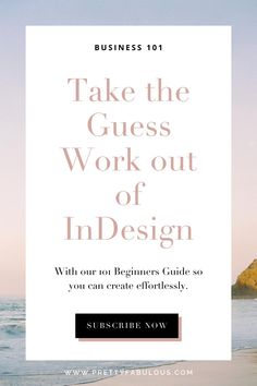 Take the guess work out of InDesign with our beginners guide so you can create planners and templates effortlessly Planner Template, Printable Planner, Printables, Starting Your Own Business, Adobe Indesign, Deck Of Cards, Planners, Wedding Planner, Tutorials