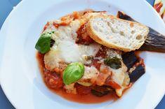 Parmigiana di Melanzane - Feel the Meal Ciabatta, Mozzarella, Pork, Meals, Sicilian Food, Meal, Kale Stir Fry, Pork Chops, Yemek