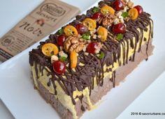 Inghetata casata cu ciocolata, nuca si fructe confiate