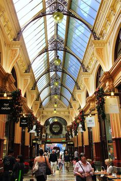 Royal Arcade in Bourke Street, Melbourne #Royal Arcade #Bourke Street #Melbourne