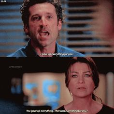 Damn, that hurts Greys Anatomy Frases, Greys Anatomy Funny, Grey Anatomy Quotes, Grey's Anatomy, Tv Quotes, Movie Quotes, Meredith And Derek, Meredith Grey Quotes, House Md Quotes