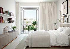 Neutral bedroom [ PlankWood.com ] #bedroom #plank #wood