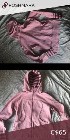 Very good condition, barely worn. Pink Sweater, Lululemon Athletica, Hooded Jacket, Sweaters For Women, Best Deals, Jackets, Closet, Things To Sell, Armoire