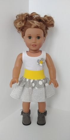 Candy Pink /& Black Party Skirt with Polka Dot Waistband for 18 Inch Dolls