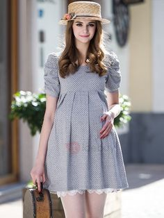 Tidebuy.com Offers High Quality Sweet Little Dot Cotton Maternity Dress, We have more styles for Maternity Dresses
