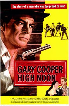 High Noon (1952).  Classic 1950's movie poster artwork here. Shows forboding of danger 'about to go down'