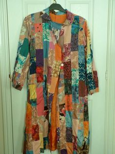 Stunning Vintage patchwork dressing gown / housecoat! talk about Joseph's Technicolour dreamcoat :)