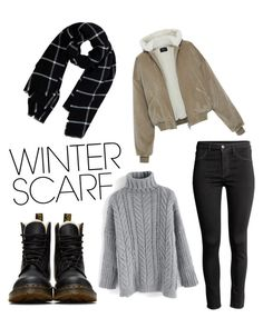 """""""Winter Scarf #22"""" by lunqqa on Polyvore featuring Dr. Martens, Warehouse and Chicwish"""